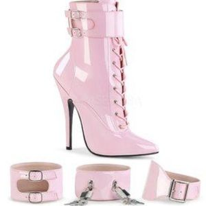 NEW N BOX 💗 Baby Pink Fetish Heels Pumps Lock Key